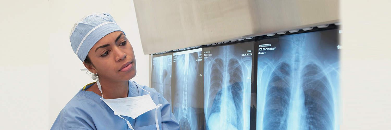 Female Radiologist Viewing Images 2 Regional One Health Regional